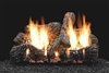 LS-C2 Charred Oak Ceramic Fiber Log Set with Slope Glaze Burner by White Mountain Hearth