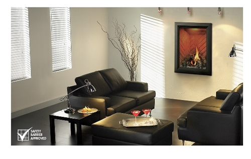 "GD82NT-PASB Park Ave - 24"" Gas Fireplace (Direct Vent)  by Napolean"