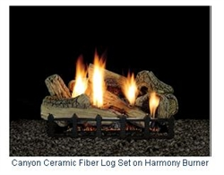 LX-CF Canyon Cermaic Fiber Log Set with Harmony Burner