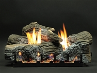 LX-WR  WildWood Refractory Log Set with Slope Glaze Burner