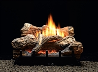 VFDM/VFDR Manual Flint Hill Vented/Vent Free Gas Log Set w/ Contour Burner by White Mountain