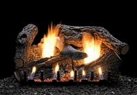 LS-RSS Super Sassafras Refractory Log Set with Slope Glaze Burner by White Mountain