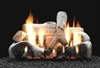 LS-B2 Birch Ceramic Fiber Log Set with Slope Glaze Burner by White Mountain