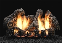 LS-C2S Super Charred Oak Ceramic Fiber Log Set with Slope Glaze Burner  by White Mountain