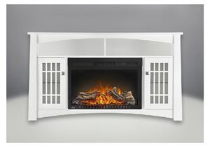 "The Adele NEFP27-0815W Cinema 27"" Electric Fireplace & Mantel Package by Napoleon"