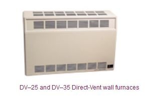 DV-35 - 35,000 BTU Mid-Size (Direct Vent) Wall Furnace by Empire Heating Systems