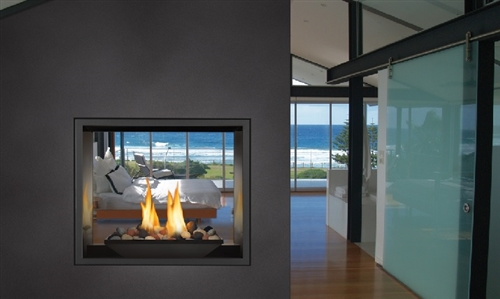 "HD81NT - 39"" See-Thru Gas Fireplace Made by Napoleon"