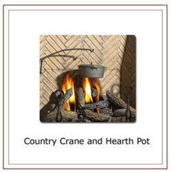 Napoleon (CP) Fireplace Country Crane and Hearth Pot