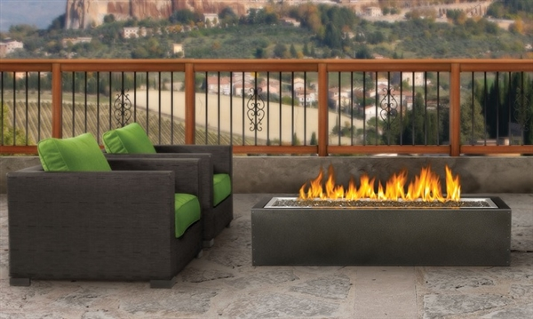 A truly unique outdoor fire pit with a slim