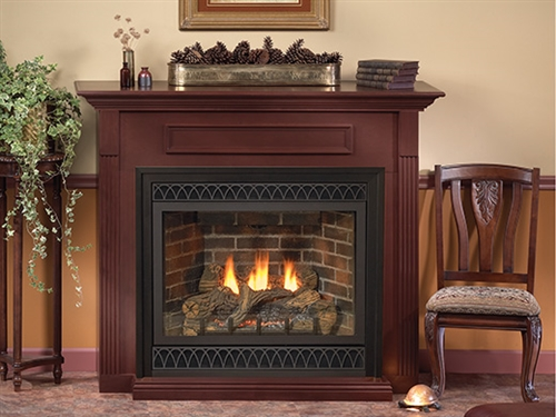 "DVD32FP30 - 32"" Tahoe Deluxe (Direct-Vent) Fireplace by White Mountain"